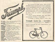 W7596 Bicicletta TRIUMPH - Pubblicità del 1909 - Old advertising