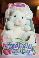 VINTAGE RARE MATTEL 1993 icetickle babies UNRELEASED bunny White Plush Toy NEW