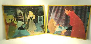 Vintage Sleeping Beauty Jaymar Tray Puzzle Set of Two