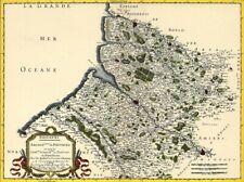 Reproduction carte ancienne - Comté de Ponthieu 1656