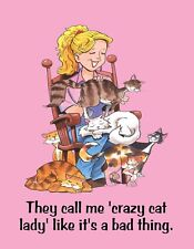 Metal Fridge Magnet They Call Me Crazy Cat Lady Like It's A Bad Thing Humor
