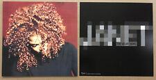 JANET JACKSON Rare 1997 DOUBLE SIDED PROMO POSTER FLAT for Velvet Rope CD USA