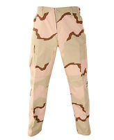 DEFECT AIRSOFT RIP PERIMETER INSECT GUARD USGI PANTS Desert Camo DCU TROUSERS