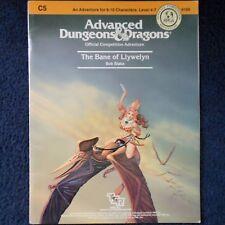 C5 la Bane de Llywelyn Advanced Dungeons & Dragons Aventura módulo AD&D 9109
