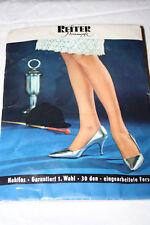 Reiter echte Nylonstrümpfe Pin-Up Gr. 10 Inka 88 cm Strapsstrümpfe 30 Den Nylons