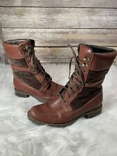 Sebago Saranac Lace Brown Leather and Suede Boot size 8.5