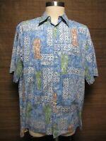 Vtg. Reyn Spooner Mens Aloha Hawaii Tailored Floral Shirt XL 100% Cotton USA