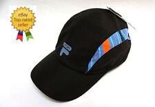 dbe0f42f8b82 Fila Sport womens Black Blue Adjustable Essential Baseball cap hat one size  NEW