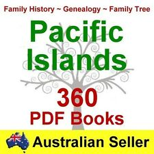 Family History Tree Genealogy Pacific Islands 360 Old Historic Books NEW DVD