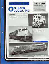1999 The Overland Mail, Model Raolroad Bulletin  Catalog #126 + price list