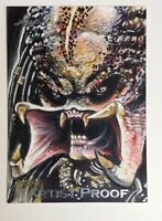 PREDATOR LEAF ARTIST PROOF SILVER FOIL PAINTED SKETCH CARD BY STEVEN BURCH