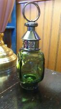 """Avon Whale Oil Lantern, Tai Winds After Shave, Green Glass, 7 1/2"""" Tall, Empty"""