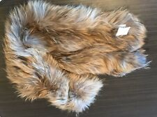 New Moncler Raccoon Fur Scarf Collar Shawl