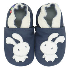 carozoo bunny navy blue 5-6y soft sole leather kid shoes
