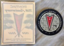 NOS Pontiac 1926-2001 75th Anniversary items Trans Am GTO Grand Prix Firebird GM