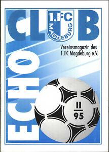 OL 95/96 1. FC Magdeburg - CLUB ECHO 2/1995