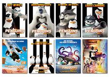 penguins of madagascar 2014 Animation Movie cartoon new Postcard 8pcs per set