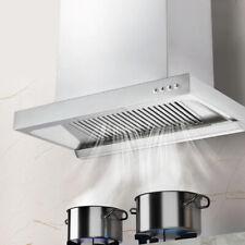 "24"" Aluminum Alloy 4 Buttons Control Kitchen Wall Mount Range Hood two Speeds"