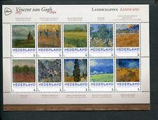 Netherlands, VINCENT VAN GOGH 1853-1890 sheet LANDSCAPES-LANDSCHAPPEN;  MNH