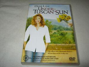 Under The Tuscan Sun - Diane Lane - VGC - DVD - R4
