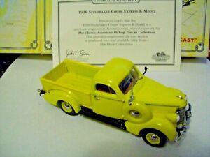 MATCHBOX 1938 STUDEBAKER Coupe Express K-Model Pickup Truck, 1:43, Box & COA