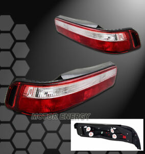 FOR 90 91 92 93 ACURA INTEGRA 2DR 2D LS RS GS ALTEZZA BRAKE TAIL LIGHT RED/CLEAR