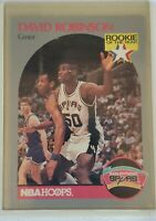 David Robinson 1990 NBA Hoops Basketball Card #270 RC Rookie of the Year ROY