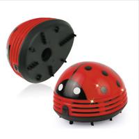 Mini Vacuum Cleaner Desktop Sweeper Beetle Ladybug Dust Portable Office Home