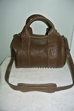 ALEXANDER WANG SUPPLE BROWN LEATHER STUDDED ROCCO BAG
