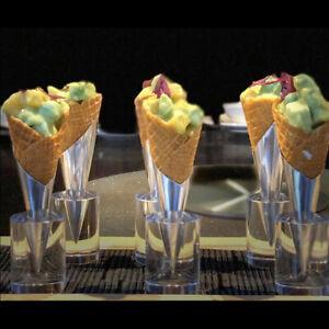 Ice Cream Cone Display Holder Stand Sweet Tube Crispy Shelf Candy Acrylic HoN8A9