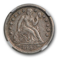 1853 O Seated Liberty Dime NGC XF 45 Extra Fine to AU Better Date Original Toned