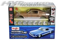 MAISTO 1:24 MODEL KIT 1967 FORD MUSTANG GT  DIE-CAST BROWN 39260
