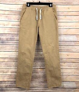 Marine Layer Saturday Jogger Slim Fit Pants MENS M Khaki Drawstring Pockets
