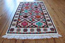 65x120 cm ORIENTAL TAPIS, Tapis, Kelim , Tapis, damaskunst rug S 1-2-03
