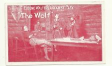 Postcard Scene From Eugene Walter's Greatest Play The Wolf Adv Theatre PC 1910s