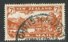 New Zealand 1931 Plane/Lake 7p orange Airmail--Attractive Topical (C3) used
