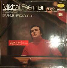 DGG 2535 013-BRAHMS PROKOFIEFF Mikhail Faerman Piano-ORIGINAL VINYL LP IMPORT