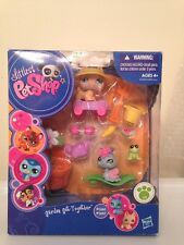 2009 LITTLEST PET SHOP LPS GARDEN GET TOGETHER SET NEW in BOX #1446 #1447 SNAIL