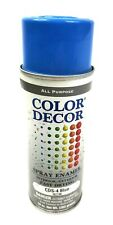True Value Cds-4 Blue Color Decor Fast Drying Interior/Exterior Spray Enamel,.