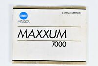 Vintage Minolta Maxxum 7000 35mm Camera manual / Instruction Book English