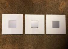 3 Sealed IKEA Malma White Decorative 10 x 10 Modern Wall Mirrors, Brand New!