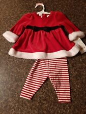 Girls 2 piece Christmas Dress & Leggings New