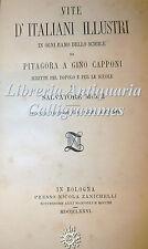 Salvatore Muzzi, VITE DI ITALIANI ILLUSTRI da Pitagora a Capponi 1876 Zanichelli
