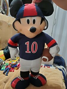 Disney Mickey Mouse Large Plush Doll 24 Inch 2ft Tall Football Standing