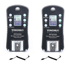 Yongnuo RF-605N Wireless Radio LCD Flash Trigger set for Nikon Camera UK