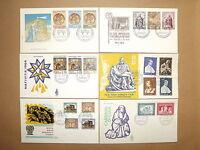 1836 - Vaticano, FDC - Lotto di 6 buste primo giorno, 1963/64