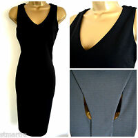 NEW NEXT DRESS SHIFT PENCIL STRETCHY BLACK WORKWEAR PARTY OCCASION SIZE 8 - 20