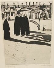"""HELEN BREGER """"SIGHT SEEING"""" LIMITED HAND SIGNED ETCHING LISTED ARTIST"""