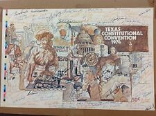 RARE UNIQUE SIGNED DELEGATES FOR THE 1974 TEXAS CONSTITUTION CONVENTION