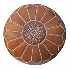 Brand New -Stunning Moroccan Leather Ottoman Pouffe Pouf Footstool